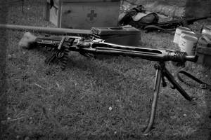 D-Day machine gun