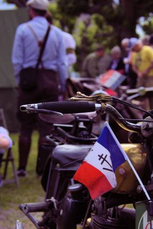 D-Day FFI with motorbike